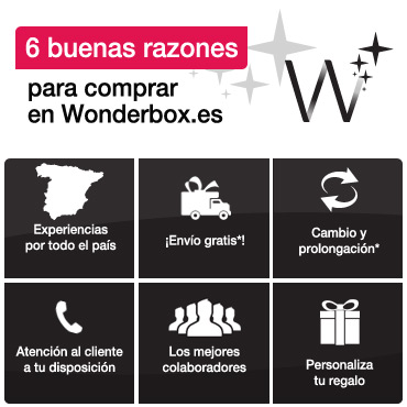 Buenas razones para comprar en Wonderbox.es
